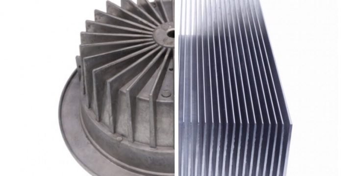 How extrusion and die-casting can be applicated in the heat sink production?