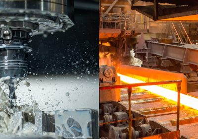 What are cold working and hot working of metal?